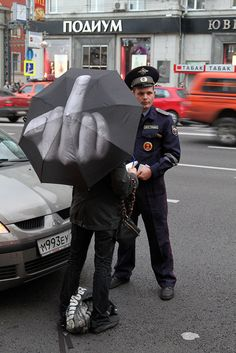 Now that's what I call a statement umbrella!
