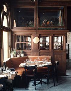 Helmed by chef Chris Painter, Wm. Mulherin's Sons Italian-inspired restaurant was named one of Bon Appetit's 50 Best New Restaurants. Cafe Restaurant, Restaurant Design, Restaurant Interiors, Oriental Restaurant, Commercial Design, Commercial Interiors, Places To Eat, Pennsylvania, Whiskey