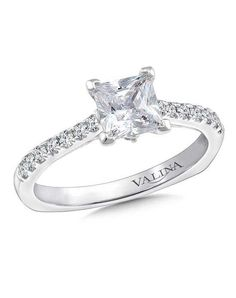 Diamond engagement ring mounting with side stones set in white gold. Mounting to fit 1 ct. - Diamond Engagement Ring Mounting in White Gold ct. Cute Engagement Rings, Princess Cut Engagement Rings, Rose Gold Engagement Ring, Oval Engagement, Beautiful Wedding Rings, Perfect Wedding, Dream Wedding, Fashion Rings, Wedding Jewelry