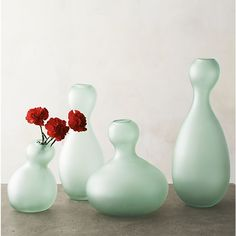 #setthetable Fish Glass Vases I Crate and Barrel Paola Navone Collection