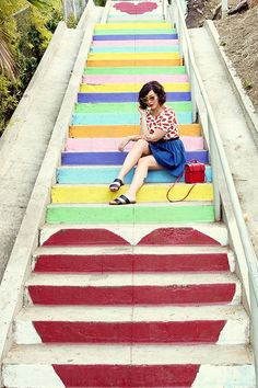 Silverlake Heart Stairs - Sunset and Micheltorena - 3324 Sunset Blvd Los Angeles, CA 90026