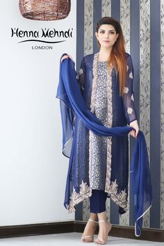Designed in London UK. Free delivery over Chiffon Shawl, Chiffon Gown, Stylish Dress Designs, Stylish Dresses, Long Dresses, Indian Suits Online, Suit With Jacket, Cigarette Trousers, Embroidered Jacket