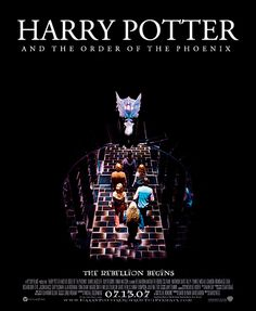 Harry Potter Poster Remake → Order of the Phoenix Harry Potter Movie Posters, Harry Potter Facts, Harry Potter Universal, Harry Potter Weekend, Always Harry Potter, Weasley Harry Potter, Hogwarts Alumni, Ron And Hermione, Fantasy Movies