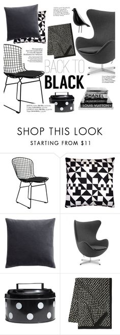 """""""back to black"""" by punnky ❤ liked on Polyvore featuring interior, interiors, interior design, home, home decor, interior decorating, Ciel, H&M, Haute Hippie and Kelly Wearstler"""