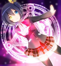 Adopted !! rikka . She has a very special magical power . She hides it . The power in in her eye