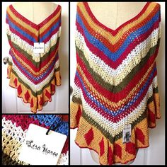 """Spotted while shopping on Poshmark: """"LISA MAREE/FP  Not Your Granny's Poncho. NWT""""! #poshmark #fashion #shopping #style #Free People #Sweaters"""