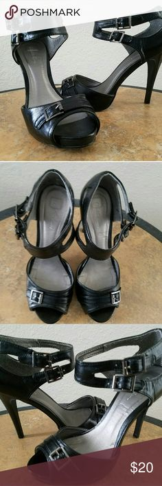 Black heels These Charlotte Russe heels have little wear.  They are comfortable with a 4.5 inch heel and 3/4 platform. Shoes Heels
