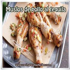 Muslos de pollo al tequila