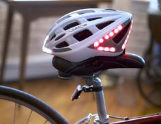 Lumos is a new and innovative bicycle helmet designed to improve your visibility and ability to communicate your intentions to motorists around you when riding in traffic.