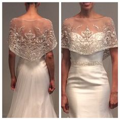 More of the Most Beautiful New Wedding Dress Styles A sparkling capelet for an evening affair. Gown by Simone Carvalli Source by usedlook The post More of the Most Beautiful New Wedding Dress Styles appeared first on The Most Beautiful Shares. New Wedding Dresses, Bridal Dresses, Lace Dresses, Couture Wedding Gowns, Modern Filipiniana Dress, Filipiniana Wedding, Barong Wedding, Pretty Dresses, Beautiful Dresses