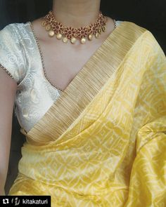 Mid week experiments with this diaphanous drape from & choker from 🌸 Trendy Sarees, Stylish Sarees, Simple Sarees, Saree Draping Styles, Saree Styles, Indian Dresses, Indian Outfits, Indian Clothes, Saree Jewellery