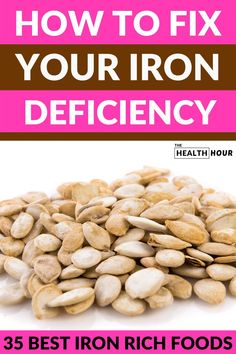 iron rich foods The best way to overcome iron deficiency is to eat the right kind of foods. These 35 essential iron rich foods can keep you from iron deficiency Good Iron Foods, Foods That Contain Iron, Foods With Iron, Foods High In Iron, Iron Rich Foods, Good Foods To Eat, Foods Containing Iron, Iron Rich Recipes, Food For Iron Deficiency