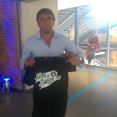 El Chapa Retegui, con la camiseta de HoySeJuega