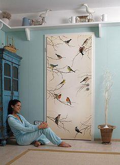Umstyling: Room design on just a weekend - Wandmalerei - Door Design Door Design, Wall Design, Design Design, Old Wood Doors, Wooden Doors, Poster Mural, Decoration Shabby, Door Murals, Bedroom Doors