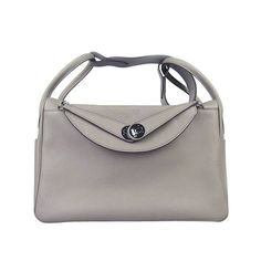 Hermes Lindy Women Shoulder Bag Grey With Silver Hardware