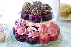 Favoritt frostingoppskrifter! sjokolade, bringebær, kremost, vanilje