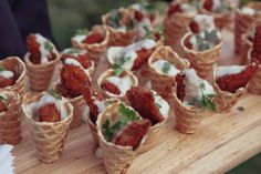 Chicken and Waffle Cones - Michelle Gee Photography | Twelve Baskets Catering