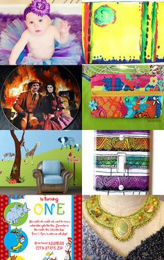 """In Living Color-Beautiful, vibrant colors to brighten anyone's day! Great picks and fun treasury. Loved, having my Vintage Gone with the Wind Plate, """"The Burning of Atlanta"""" included. Fun to be a part of this wonderful collection!!!-Pinned with TreasuryPin.com"""