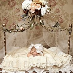 how to make a lace newborn canopy - Google Search