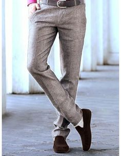 Buy Grey Linen Trouser online. http://www.bharatplaza.com/mens-wear/trousers.html