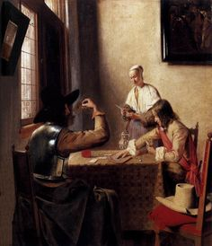 Soldiers Playing Cards (Pieter de Hooch - )