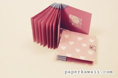 Origami Blizzard Book Tutorial   A cute and useful origami blizzard book, follow a step by step tutorial video for this pretty project, perfect for a gift and practical too!