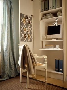 Turn a closet into a concealed work center—and make it disappear when it's not in use.
