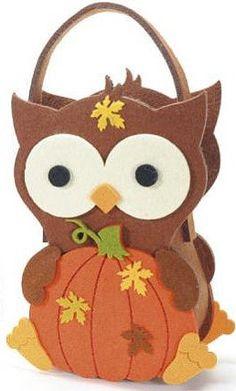 Owl Bag Children Felt Candy Case Handbag