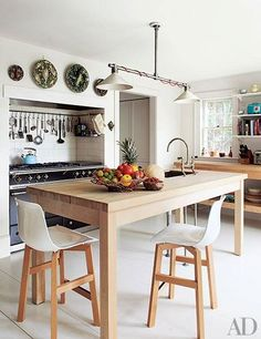 See how stylish stools make can make your kitchen island a great place to gather round