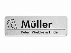 modernes Briefkastenschild - silber