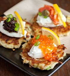 Best Potato Pancakes With Green Garlic And Chives Recipe on Pinterest