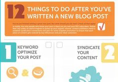 Infographic: 12 things to do after you write a blog post  Follow this checklist and watch the readers pour in.