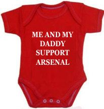 a7ad61e7b Items similar to Manchester Utd Liverpool Arsenal 1x bodysuit or 1x T-Shirt  or 2x bibs or DESIGN YOUR OWN on Etsy