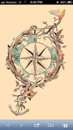 Compass-tattoo idea
