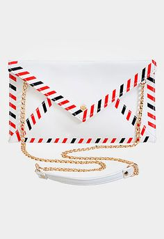 Airmail Envelope Clutch Crossbody Bag