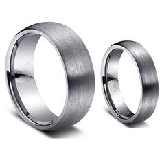 Men & Women's 8MM/6MM Brushed Finish Domed Tungsten Carbide Wedding Band Ring Set (Available Sizes 5-14 Including Half Sizes) Please e-mail sizes tungsten jeweler http://www.amazon.com/dp/B00B4HO3VK/ref=cm_sw_r_pi_dp_Krrzwb00N7ZG3