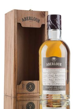 A lovely single malt Scotch whisky from Aberlour distillery, aged for 13 years in bourbon cask before being bottled 31st October 2016 at cask strength, 58.1%. A hand filled distillery only bottling from Batch A16.