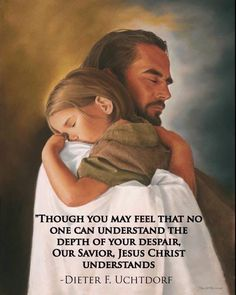 This picture of Christ and this little girl touches my heart every time I see it! I can just picture my little girl hugging the Savior like this.