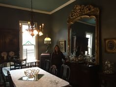 Our new 1882 mirror from a New Orleans opera house. Weighs 400 lbs.