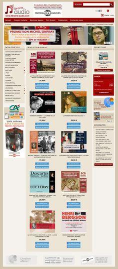 Voici la page d'accueil de La Librairie-Audio ou vous pouvez écouter des extraits audio ou musicaux des plus belles oeuvres digitales de notre patrimoine culturel. La Librairie Audio vous offre également une selection des plus grands artistes de jazz ou de blues, sous la direction artistique des editions Fremeaux et Associes. N'hesitez pas a venir nous visiter et profiter d'offres exceptionnelles. #Lalibraireaudio #audiobooks  #homepage http://www.librairie-audio.com/