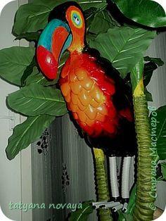 как сделать страуса из пластиковых бутылок пошаговая инструкция - фото 10