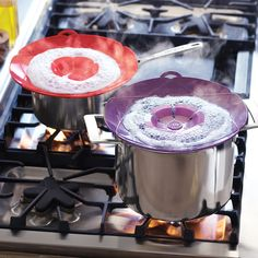 I want!!!!   Large Spill Stopper Lids... No more over boiling