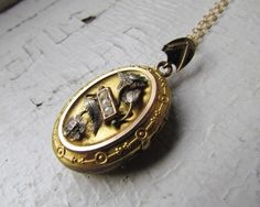 Antique Locket / Victorian Seed Pearl Locket With by LUXXORVintage, $158.00