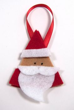 Felt Christmas Ornament- Santa Ornament