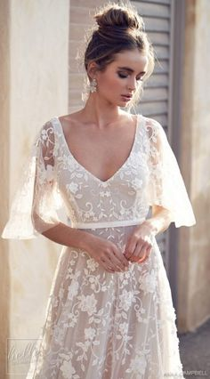 New Anna Campbell wedding dresses for 2019 from the Wanderlust Collection. Beaded, lace, and sparkling wedding dresses from this top Australian bridal designer. Lace Wedding Dress, Best Wedding Dresses, Boho Wedding, Bridal Dresses, Wedding Gowns, Elegant Wedding, Peacock Wedding, Romantic Weddings, Beachy Wedding Dresses