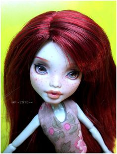 OoaK Freckled Frankie Monster High doll by Hellfishop on Etsy