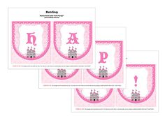 Sleeping beauty printable collection happy birthday bunting Princess Aurora Party, Sleeping Beauty Party, Happy Birthday Bunting, Birthday Parties, Party Ideas, Printable, Invitations, Handmade Gifts, Kids