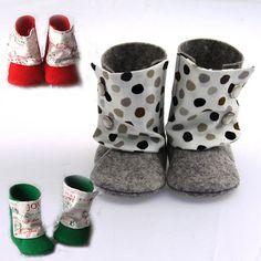 Regala diseño hecho a mano. No podrás encontrar un calzado para tu pequeño más exclusivo, coqueto y gracioso. Simpáticas botitas confeccionadas en fieltro de lana 100%.     http://www.neodalia.com/es/ventas/botines-para-bebes