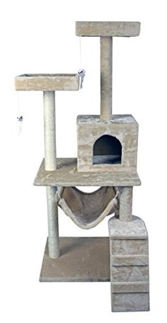 cat tree hammock scratch post house   bed furniture for play with toy    continue with the details at the image link    activity trees   pinterest   bed     cat tree hammock scratch post house   bed furniture for play      rh   pinterest
