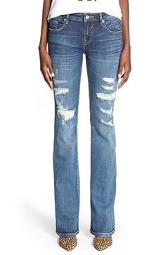 Friday Favorites:  Distressed Flare Jeans (I like the subtle flare - more like a boot cut)